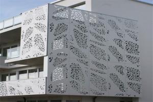 外墙冲孔拼花铝单板