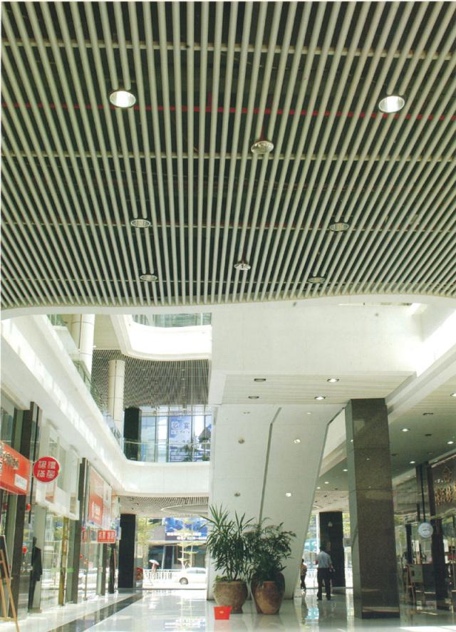 商场铝圆管吊顶