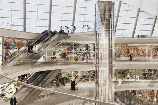 双曲全透明玻璃穹顶