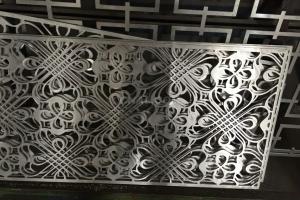 10mm铝板雕花屏风