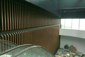 商场铝方通背景墙
