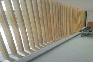立式外墙木纹铝格栅