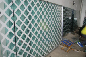 铝单板雕刻屏风
