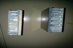 石材复合铝蜂窝板侧面