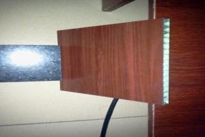 石材和木纹色复合铝蜂窝板