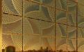 金色风车型冲孔铝单板幕墙