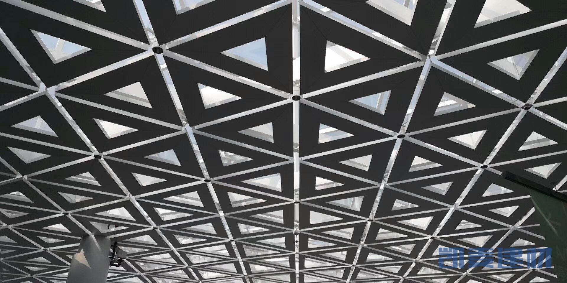 机场候机室三角形镂空铝天花