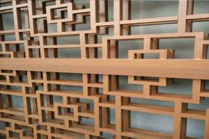 仿中国古代木纹铝窗花