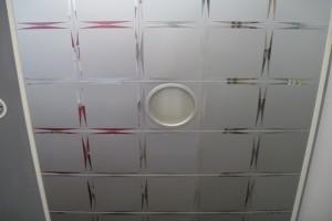 厕所卫生间印花拉丝铝扣板