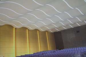 阶梯室波浪形冲孔铝单板吊顶