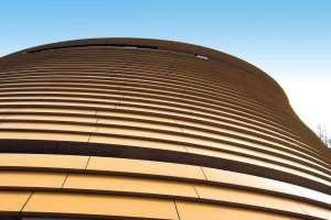 金色外墙层叠塔形铝单板