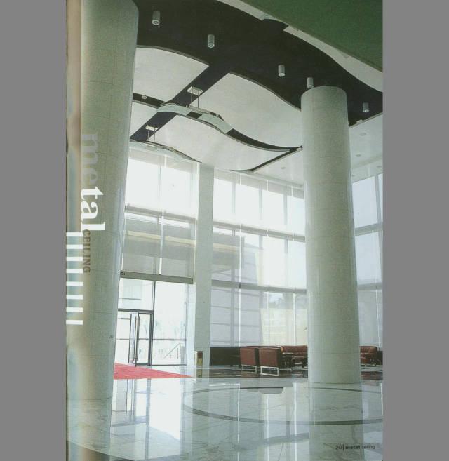 室内弧形铝单板