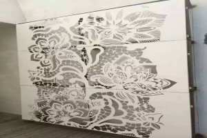 室内墙面白色雕花铝单板