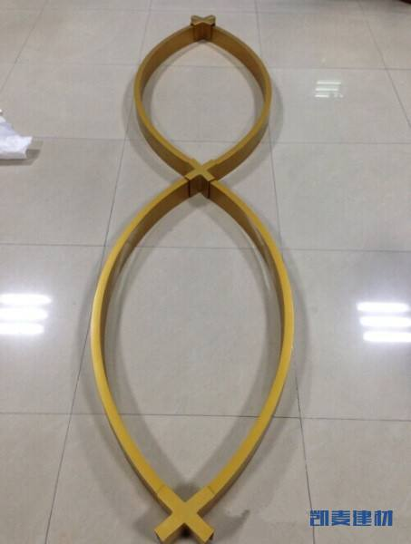 拉弯金色型材铝方管