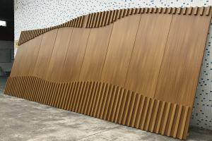 室内凹凸木纹铝单板