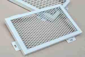 白色拉网铝板样板