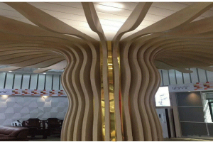 造型铝方通包柱