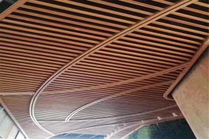 木纹造型吊顶铝方通