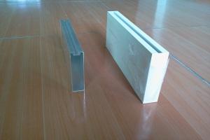 凹槽形型材铝方通和封头盖
