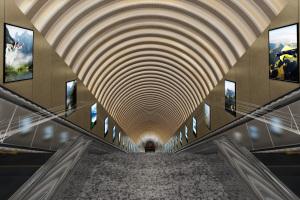 地铁电梯过道弧形冲孔吸音板