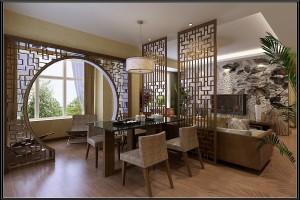 家居木纹铝合金屏风和拱门