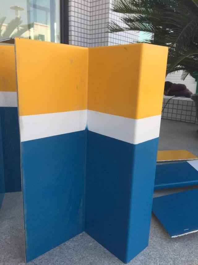三色外墙铝单板墙裙转角
