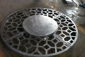 圆形雕花大铜钱造型铝单板