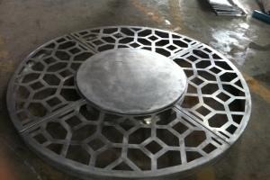 圆形雕花大铜钱造型密拼铝单板
