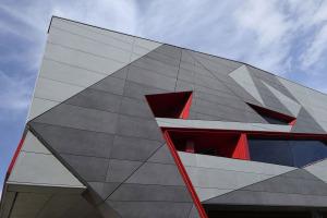 多种颜色拼图铝单板外墙