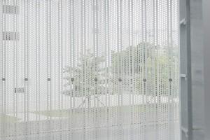 方形冲孔铝板窗帘