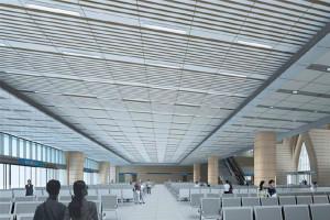 汽车站候车厅吊顶铝单板