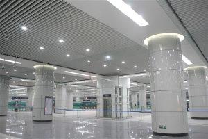 地铁站高光烤瓷铝单板