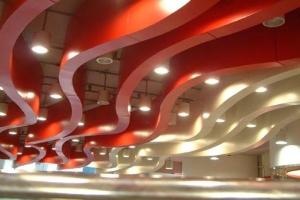 红色弧形铝方通