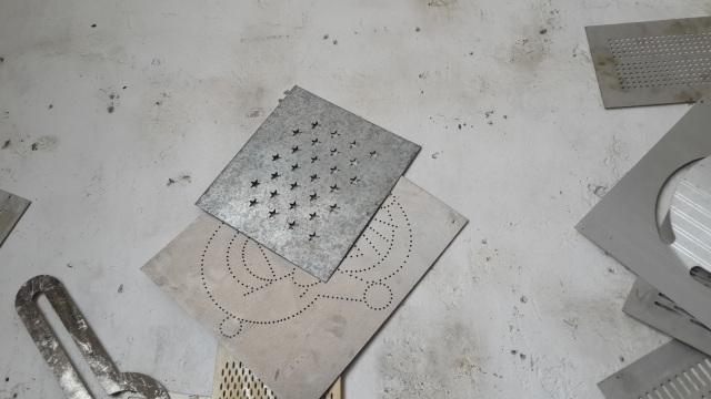 铝板五星孔冲孔模具