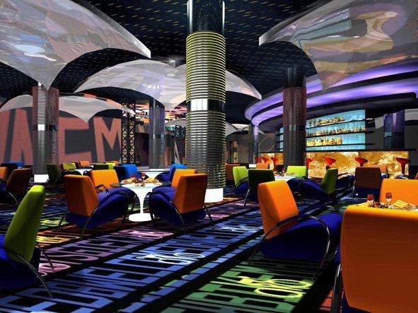 酒吧半球形雨伞铝单板