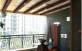 阳台木纹铝方通吊顶