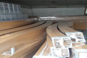 木纹型材铝方通吊顶拉弯
