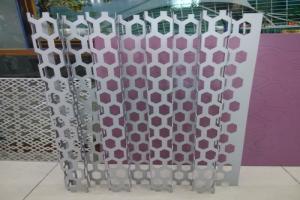 六边形冲孔长城铝单板板