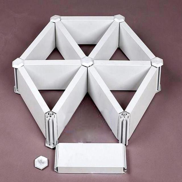 型材类六角形铝格栅