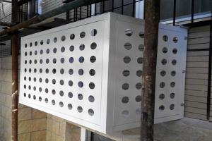 直排圆孔铝单板空调罩