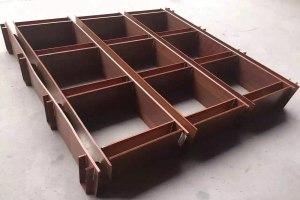 深井型木纹铝格栅