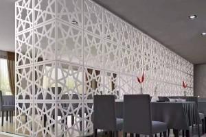 餐厅镂空铝屏风隔断