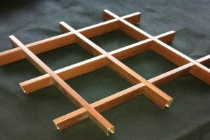 40*10木纹铝格栅