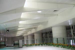 屋顶遮梁造型铝单板