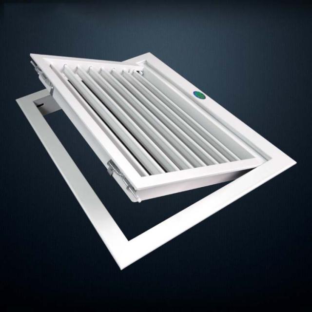 鋁合金可開式大葉回風檢修百葉