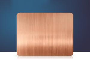 电镀紫铜色拉丝氧化铝板