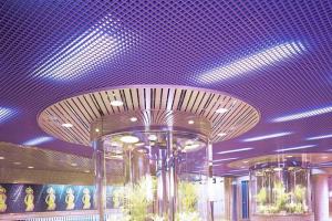 紫色铝格栅