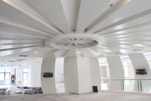 圆形发散状条形吊顶铝单板
