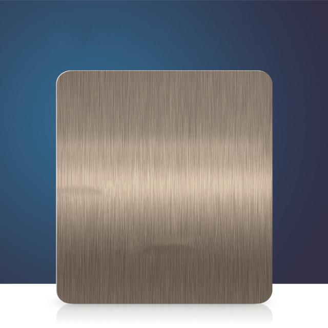 仿黄铜拉丝氧化铝板