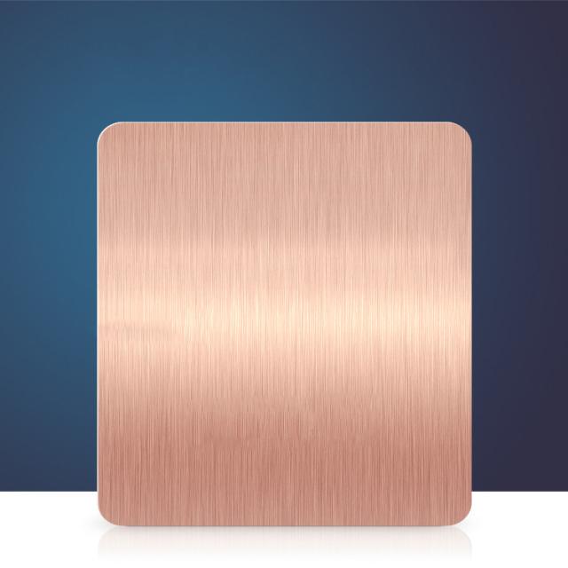 玫瑰金短纹拉丝氧化铝板